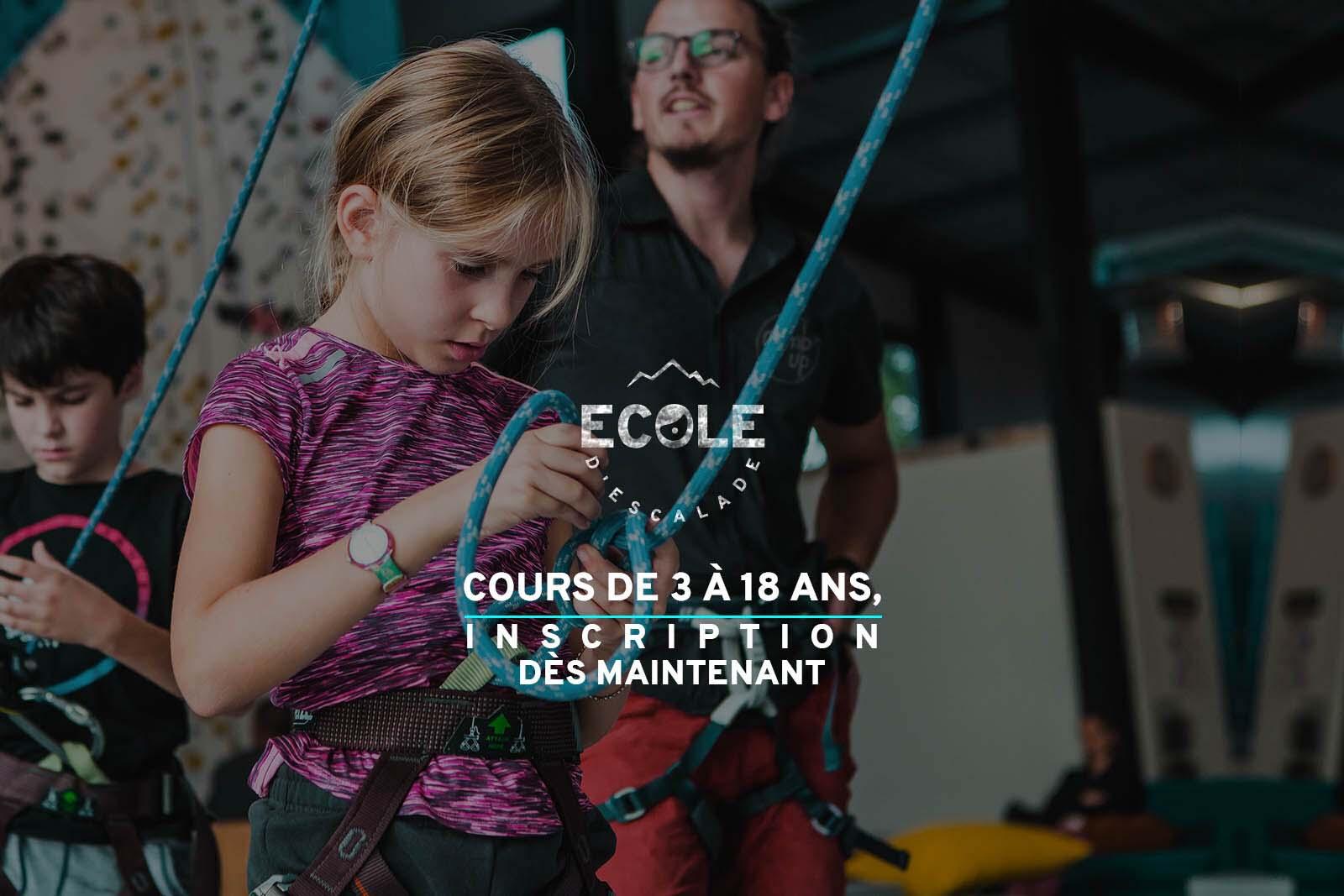 inscription école d'escalade climb up