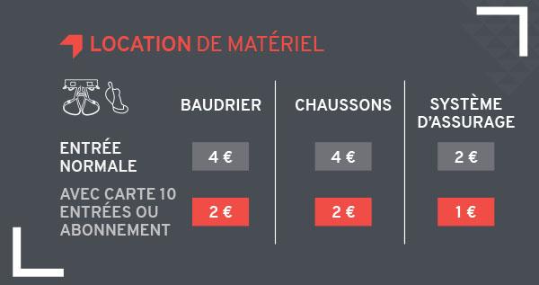 tarif location Climb Up Aix Bouc Bel Air